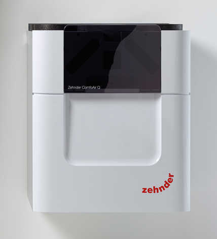 The new Zehnder ComfoAir Q central comfort ventilation will progressively replace the classic Zehnder ComfoAir 350/550 series. The new model range requires much less power and recovers significantly more heat.